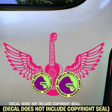 Ukulele - WINGS Uke Vinyl Decal Sticker