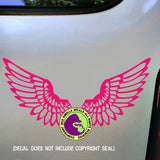 WINGS Vinyl Decal Sticker