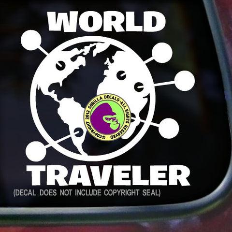 WORLD TRAVELER Decal Sticker