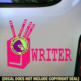WRITER Vinyl Decal Sticker