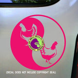 YIN YANG CHICKEN Vinyl Decal Sticker
