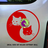 YIN YANG CAT Vinyl Decal Sticker