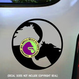 YIN-YANG HORSE Vinyl Decal Sticker