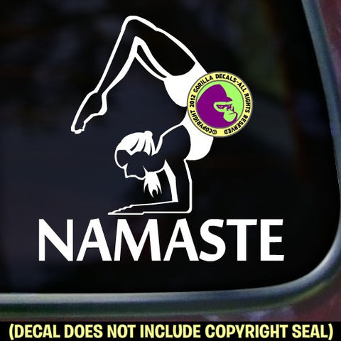 Yoga - NAMASTE Scorpion Pose Vinyl Decal Sticker