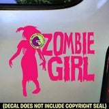 ZOMBIE GIRL Vinyl Decal Sticker