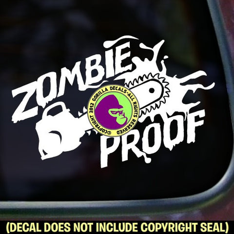 ZOMBIE PROOF Vinyl Decal Sticker