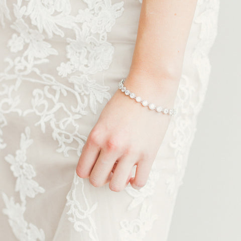 Bridal - Drops of Light Bracelet