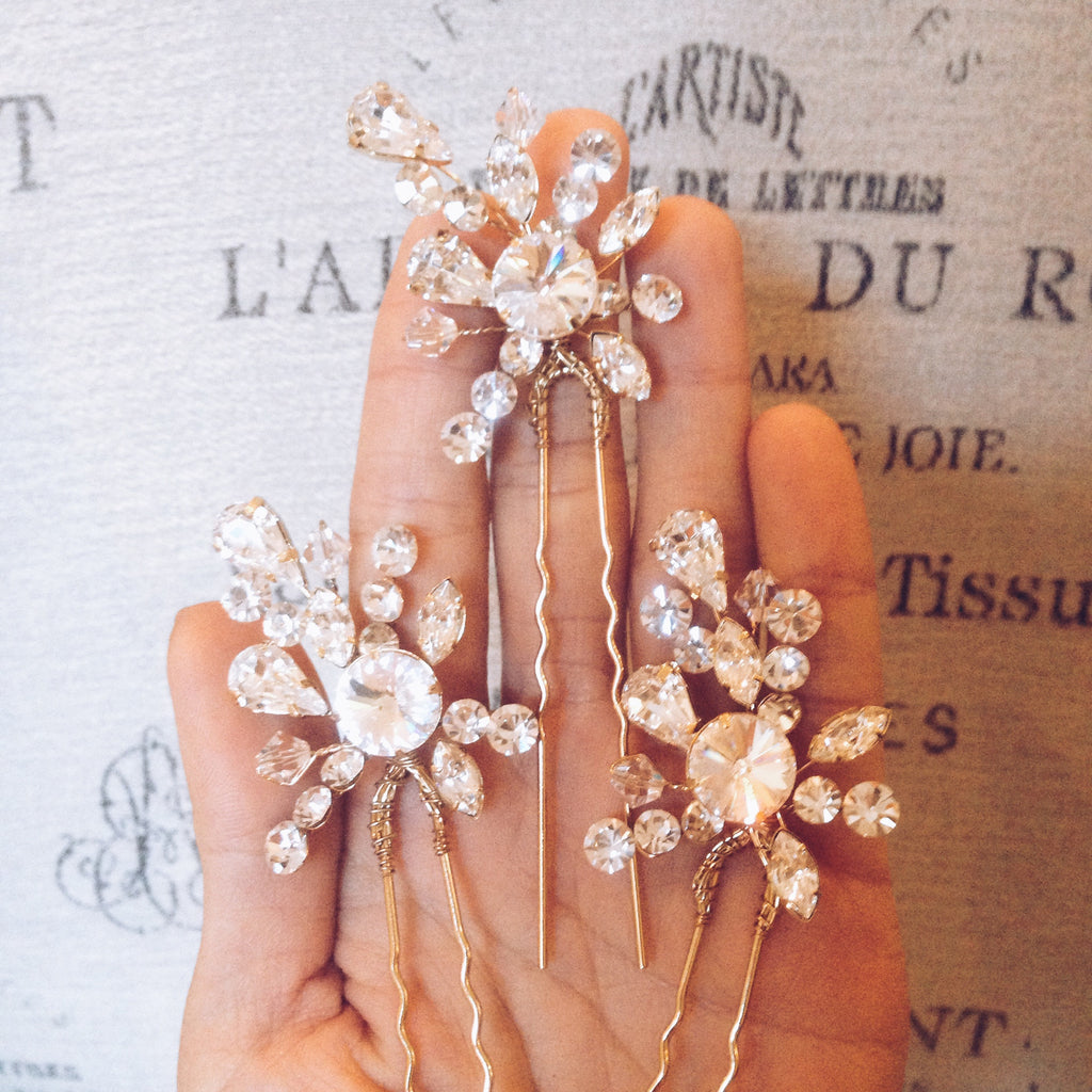 Bridal - Fireworks Hairpins