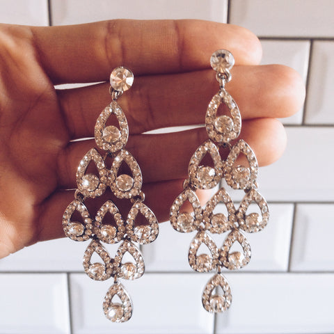 Bridal - Waterfall Earrings