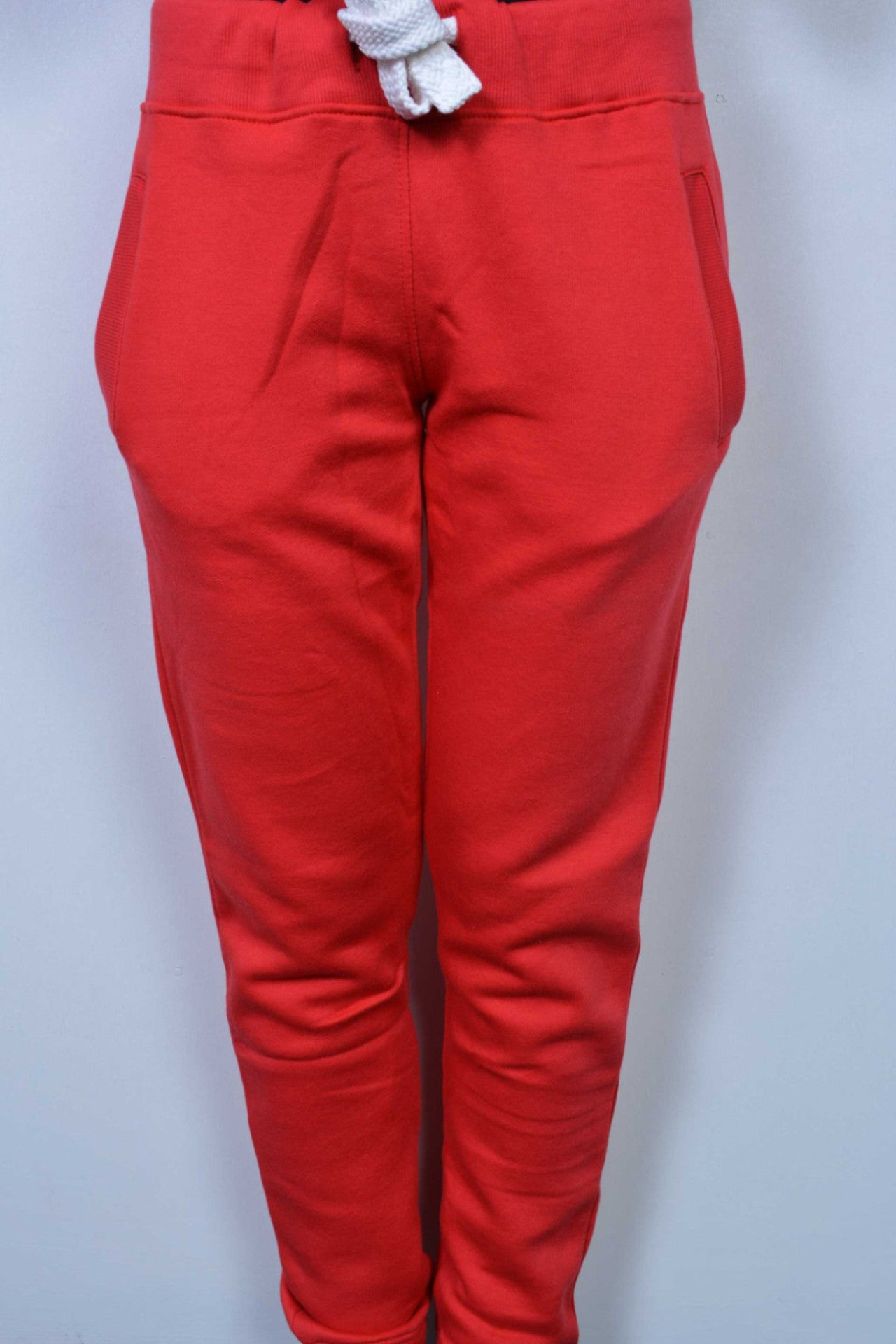 Plain Sweatpants Red - Miss Tempted  - 2