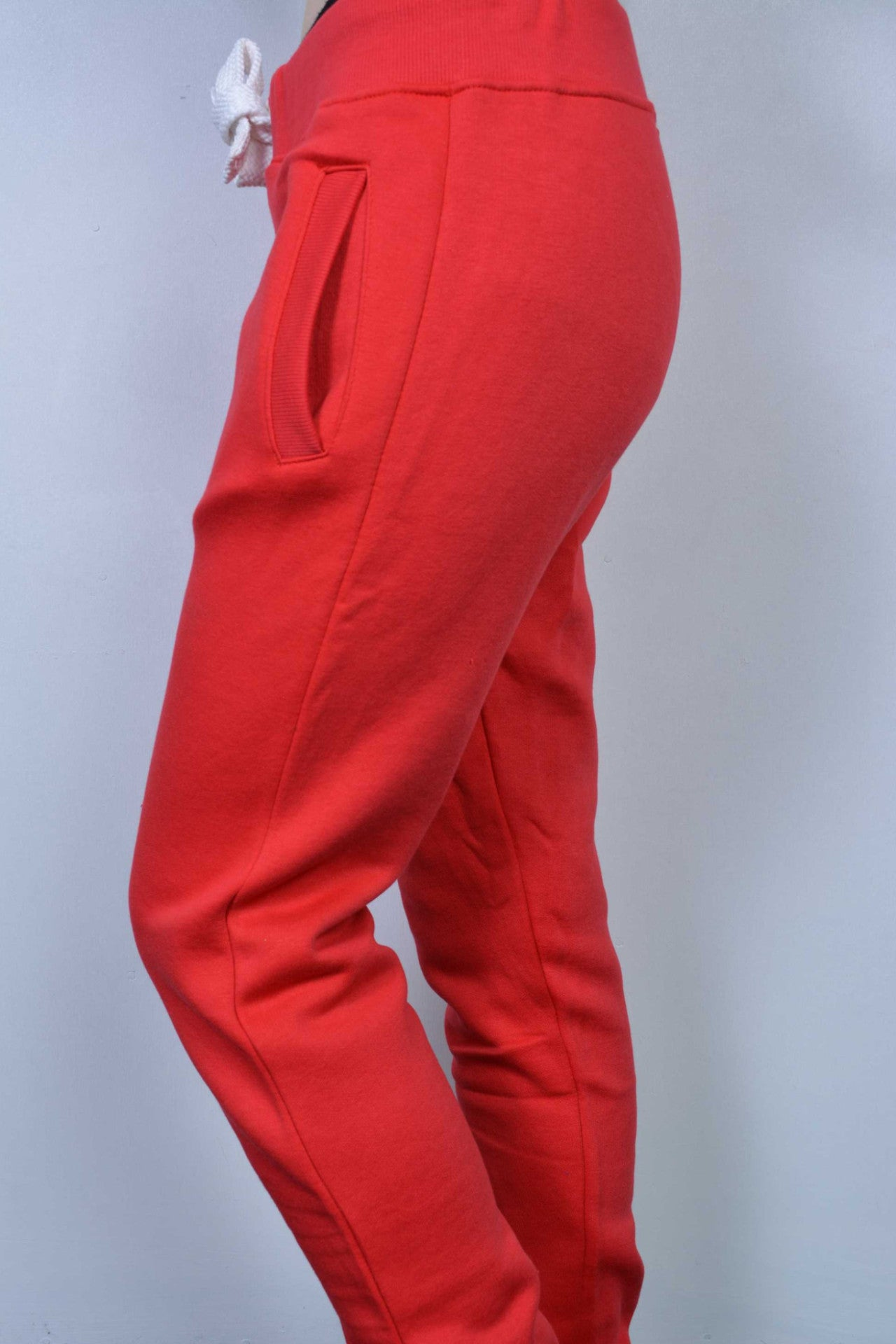 Plain Sweatpants Red - Miss Tempted  - 1
