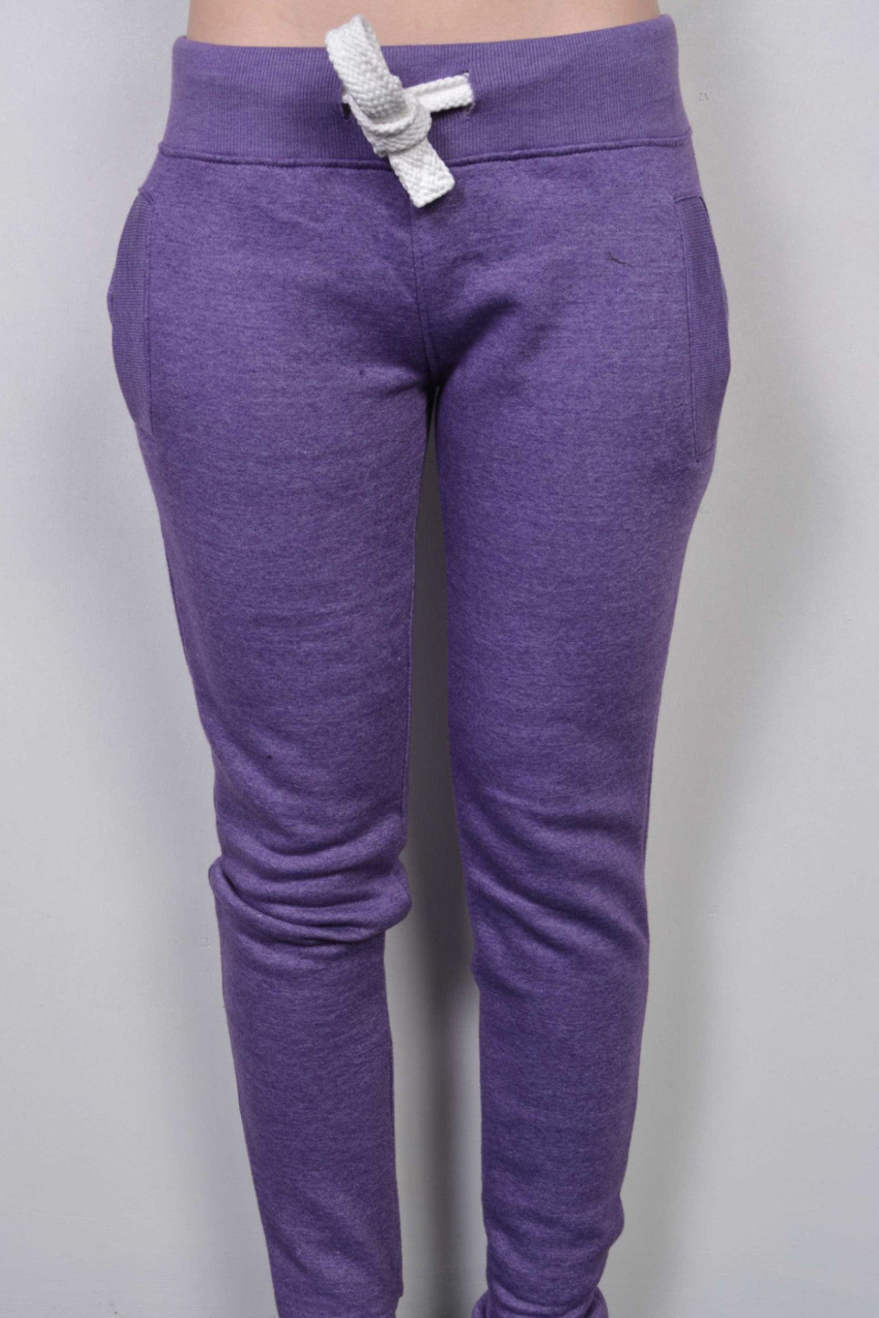 Plain Sweatpants Purple Marl - Miss Tempted  - 1