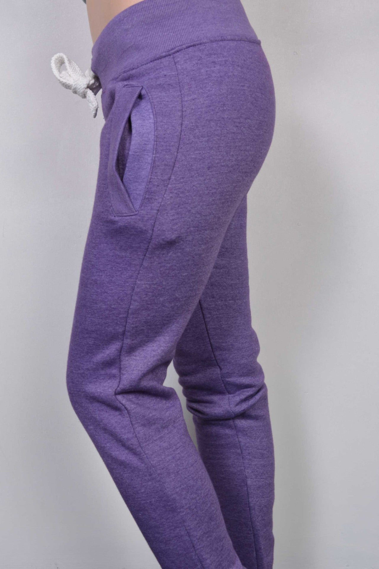 Plain Sweatpants Purple Marl - Miss Tempted  - 2