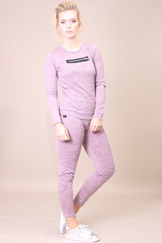 Ellie Zip Top Lilac