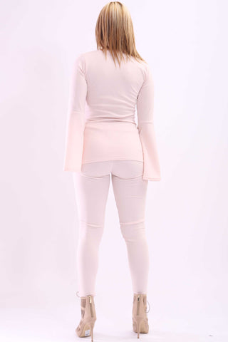 Amelia Bell Sleeve Top Peach