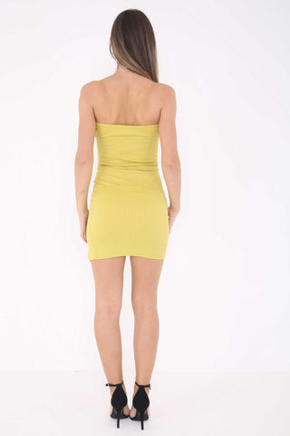 Karli Dress Split Front Mustard