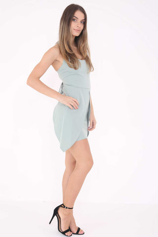 Lana Tie Back Dress Green