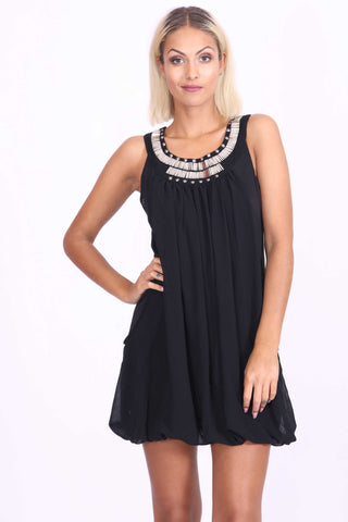 Natasha Sequin Dress Black