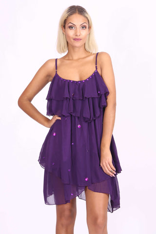 Layla Chiffon Dress Purple