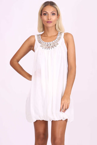 Natasha Sequin Dress White