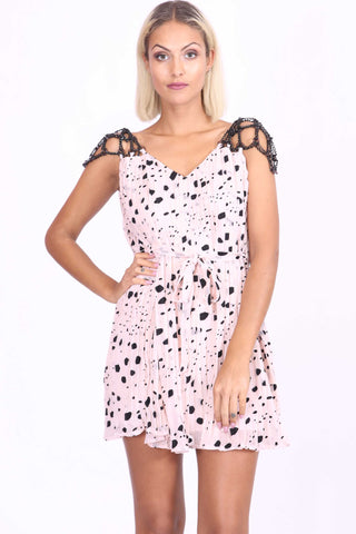 Tia Chain Strapped Dress Top Pink