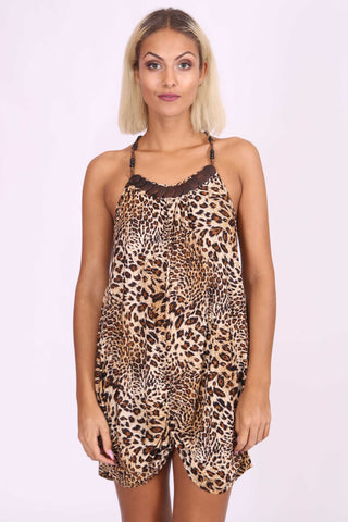 Lia Leopard Print Top Brown