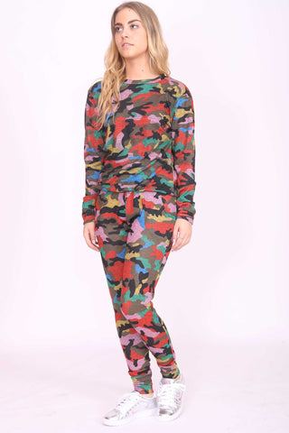 Hannah Camouflage Print Top Multi