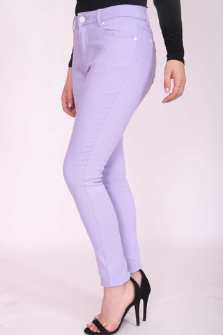 Skinny Stretch Denim Jeans Lilac