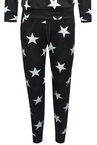 Little MT Star Joggers Black