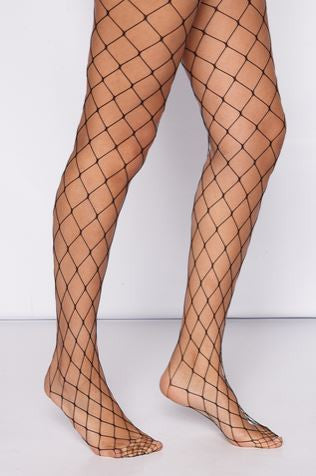 Naomi Diamond Fishnet Tights Black