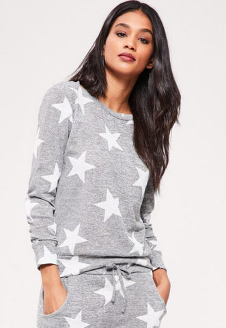 Alisha Star Top Grey