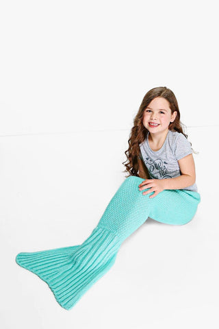 Girls Mermaid Blanket Mint
