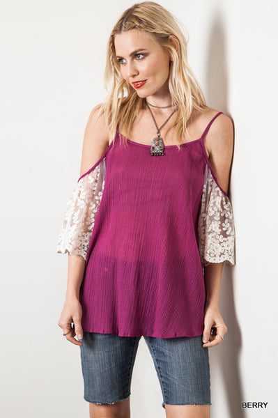 Very Berry Lace Blouse