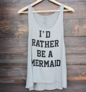 I'd Rather Be A Mermaid Tank