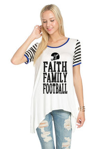 Faith Family Football Top