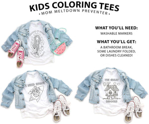 Kids Coloring Tees