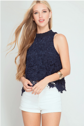 Midnight Lace Top