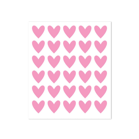 STICKERS - 30 HEARTS - BABY PINK