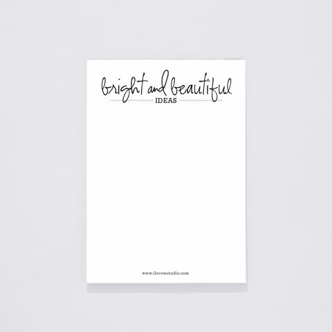 NOTEPAD (DESK) - BRIGHT & BEAUTIFUL IDEAS