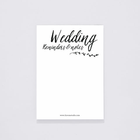 NOTEPAD (DESK) - WEDDING REMINDERS AND NOTES