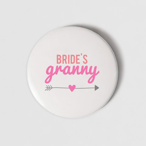 BADGE (PIN) - BRIDE'S GRANNY