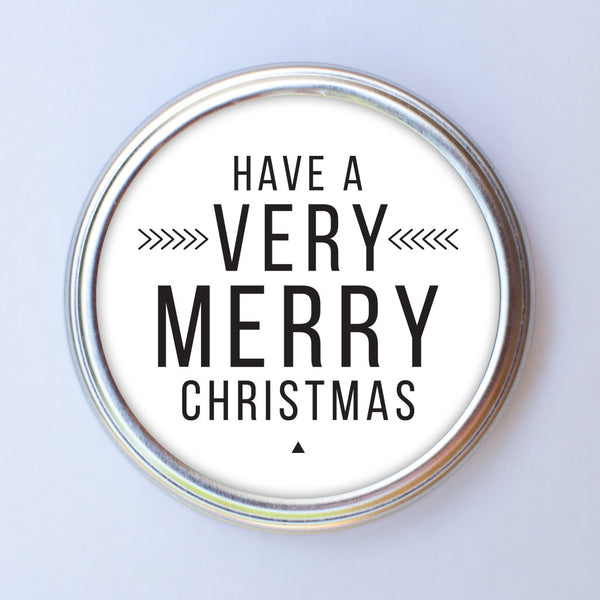 CONSOL JAR CIRCLE LID TAGS - HAVE A VERY MERRY CHRISTMAS