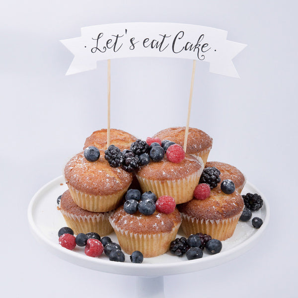CAKE TOPPER  - DIY - LET'S EAT CAKE
