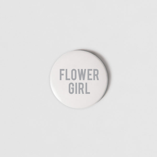 BADGE (SMALL + PIN) - FLOWER GIRL