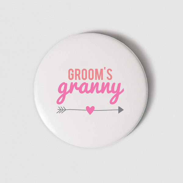 BADGE (PIN) - GROOM'S GRANNY