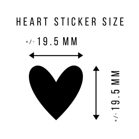 STICKERS - 30 HEARTS - CORAL