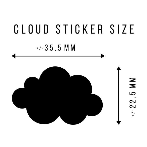 STICKERS - CLOUDS - WHITE