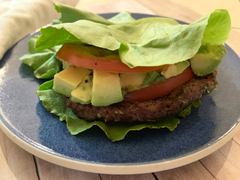 Try low carb, high protein Paleo burgers