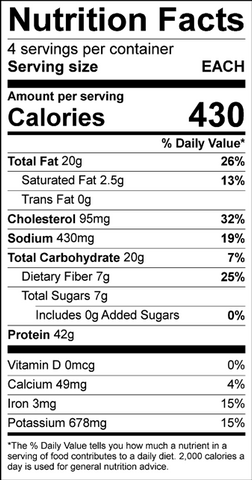Chicken Fajitas Nutritional Information
