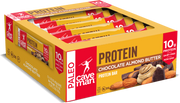 Grab a 12 count box of chocolate almond butter protein bars.